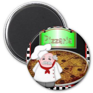 Imán redondo - cocinero Italiano
