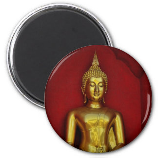 Imán redondo de Buda del oro