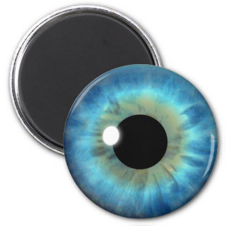 Imán redondo de encargo fresco del globo del ojo