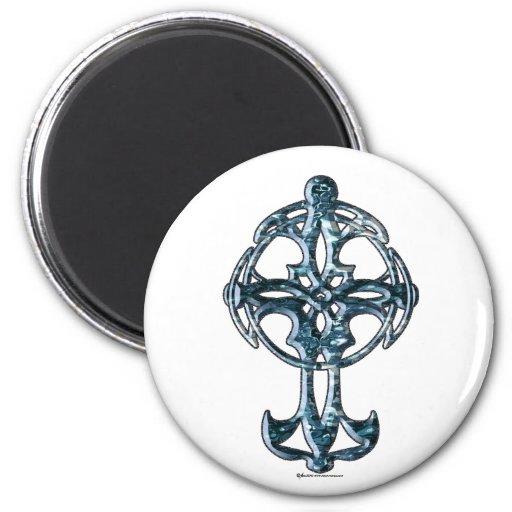 Imán redondo de la cruz céltica