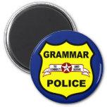 Imán redondo de la policía de la gramática