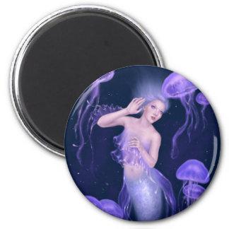 Imán redondo de la sirena de las medusas de la