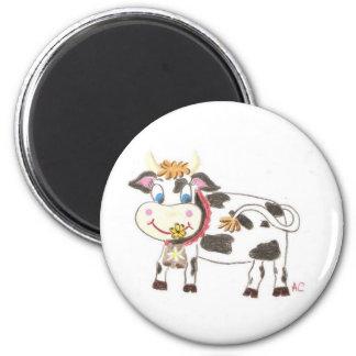 Imán redondo de la vaca suiza