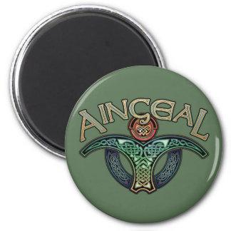 Imán redondo del ángel gaélico