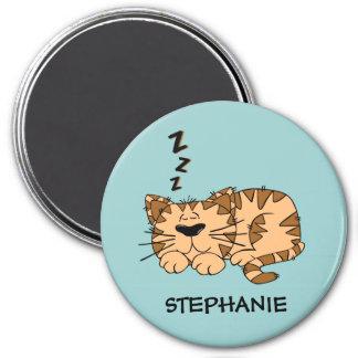 Imán redondo del gato adaptable el dormir