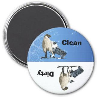 Imán redondo del lavaplatos del perro pastor