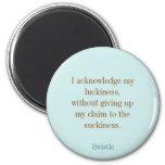Imán redondo del lema del blog de Swistle