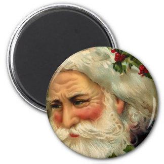 Imán redondo del navidad del padre del vintage
