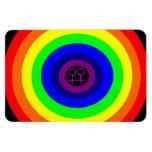 Imán redondo del premio del arco iris de las lesbi