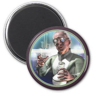 Imán redondo enojado del científico #1