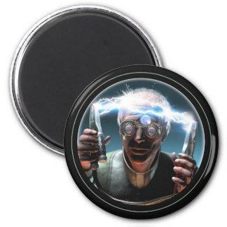 Imán redondo enojado del científico #2