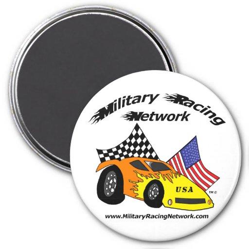 IMÁN redondo: Logotipo militar de la red que compi