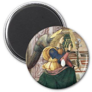 Imán redondo Pinturicchio del ángel del renacimien