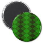 Imán redondo verde de Argyle