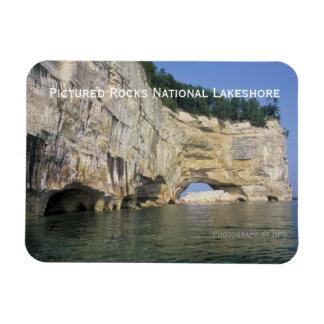 Imán representado de las rocas