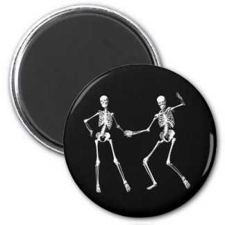 Imán retro de baile de los esqueletos