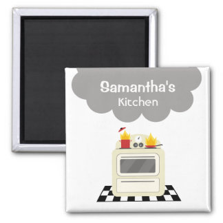 Imán retro de la cocina de la estufa del humo y de