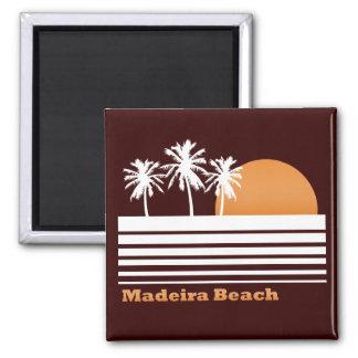 Imán retro de la playa de Madeira