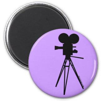 Imán retro de la silueta de la cámara de película