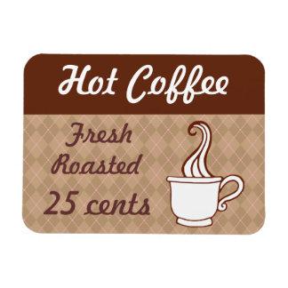 Imán retro del café