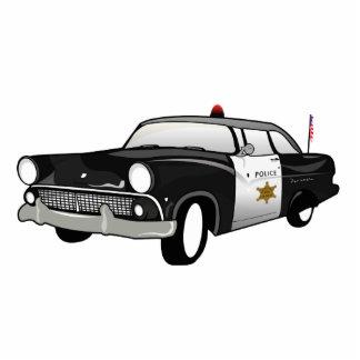Imán retro del coche de los E.E.U.U. - policía del Escultura Fotográfica