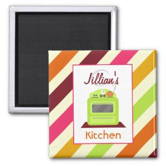 Imán retro verde claro de la cocina de la estufa y