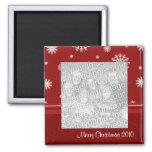 Imán rojo 2010 de la foto de las Felices Navidad