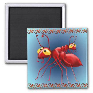 Imán rojo de dos hormigas