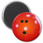 Imán (rojo) de la bola de bolos
