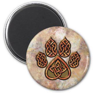 Imán rojo de Pawprint del Celtic