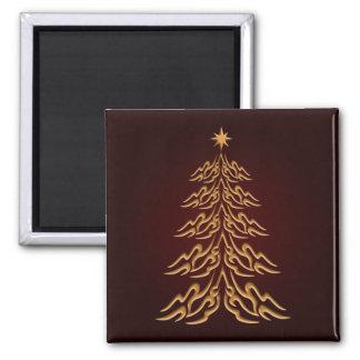 Imán rojo del árbol de navidad de Bell