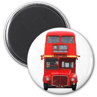 Imán rojo del autobús de Londres