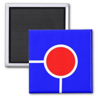 Imán rojo del azul 071