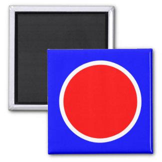 Imán rojo del azul 081