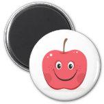 Imán rojo del dibujo animado de la manzana