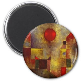 Imán rojo del globo de Paul Klee