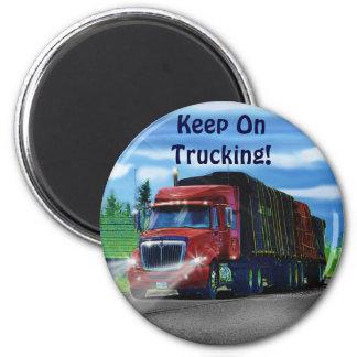 Imán rojo del regalo del conductor de camión del c