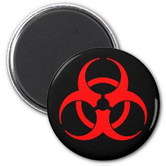 Imán rojo del símbolo del Biohazard