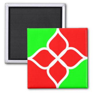 Imán rojo del verde 027
