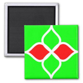 Imán rojo del verde 029