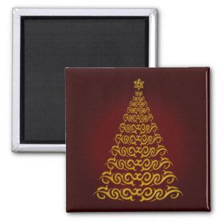 Imán rojo elegante del árbol de navidad