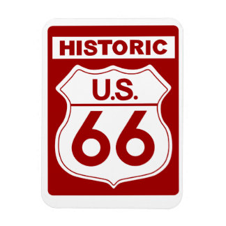 Imán rojo histórico del premio de la ruta 66