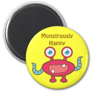Imán rojo monstruoso feliz del monstruo
