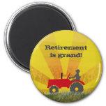 Imán rojo o verde del retiro del tractor