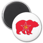 Imán rojo ruso del oso