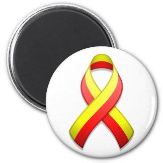 Imán rojo y amarillo de la cinta de la conciencia