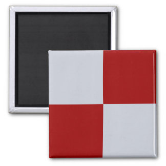 Imán rojo y gris de los rectángulos