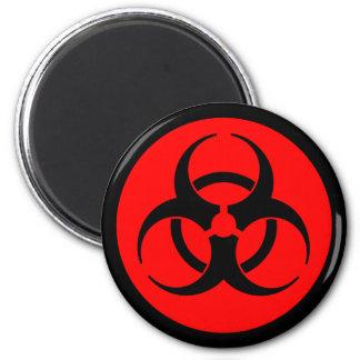 Imán rojo y negro del símbolo del Biohazard