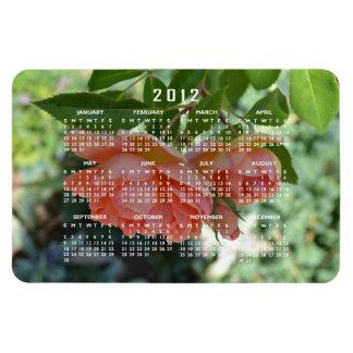 Imán romántico del calendario de los rosas del mel