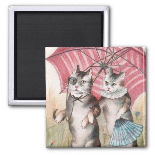 Imán romántico lindo de los gatos del Victorian